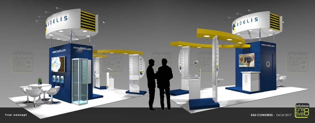 Koelis Exhibitions stand design for EAU Medical show
