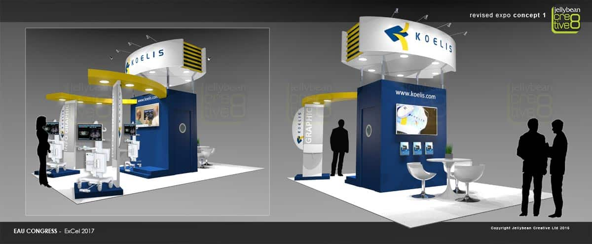 Exhibition booth design concept for Koelis