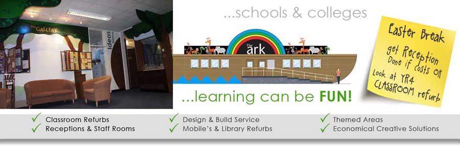 Museum gallery design for schoold educational interactive displays