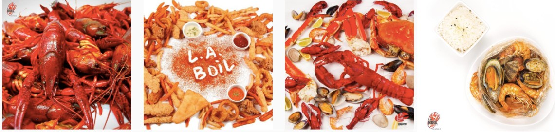 Delicious seafood options at LA Boil Mississauga West