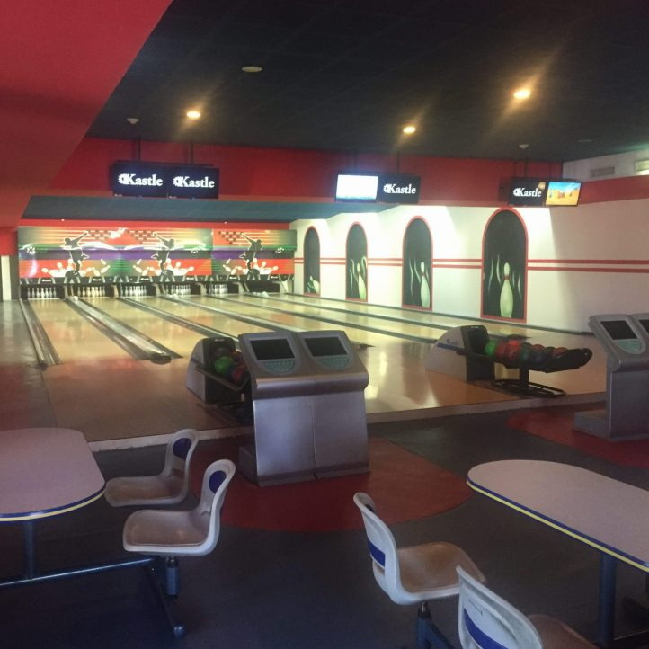 Bowling area in the plaza (sneak in for a quick air condition break)