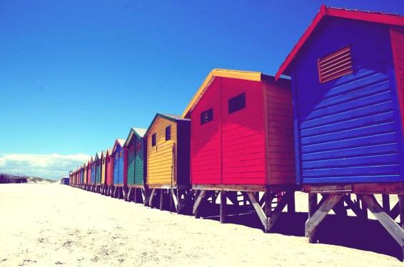 Cabanes de plage Muizenberg Afrique du Sud