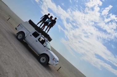 Fete sur le 4x4 en Namibie