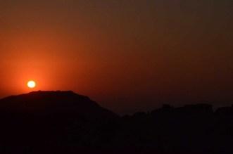 Coucher de soleil à Petra Jordanie