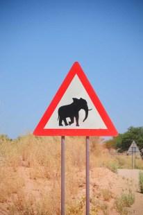 Panneau en Namibie