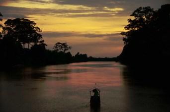 Coucher de soleil à Angkor Wat Cambodge
