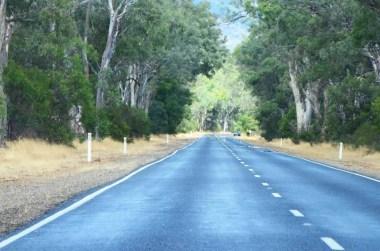 Route vers Halls Gap Australie