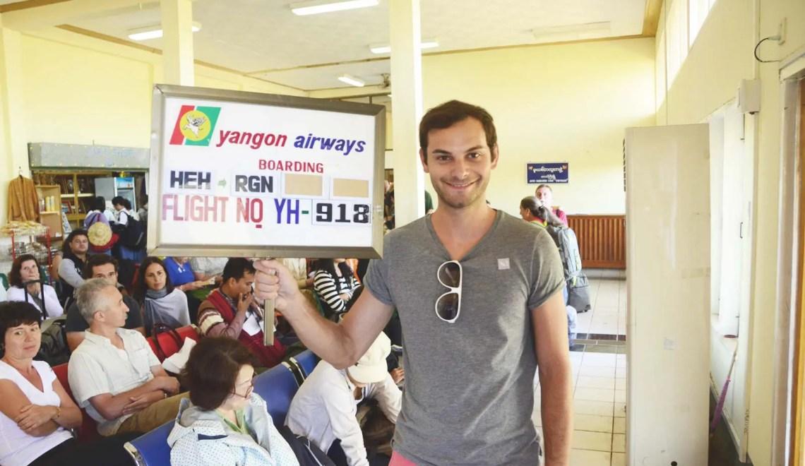 Panneau boarding au Myanmar