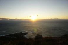 Coucher de soleil sur le Cap Afrique du Sud