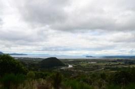 Horizon sur le lac Taupo Nouvelle Zélande