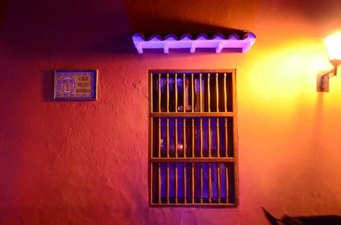 Fenetre colorée à Cartagène