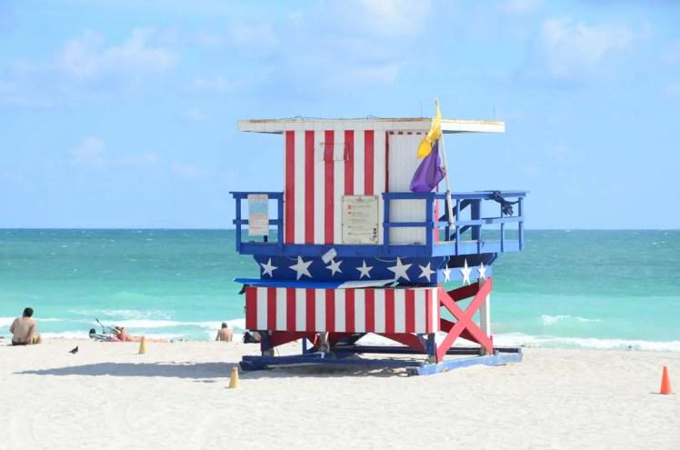Cabane de lifeguard à Miami Beach