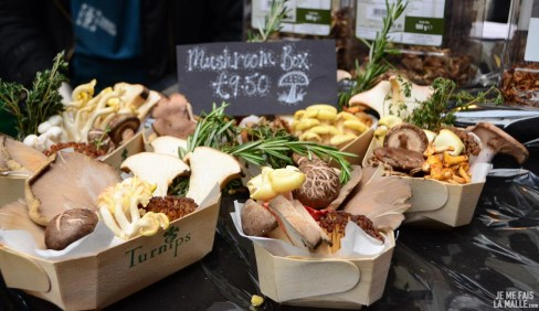 Champignons de Turnips au Borough Market