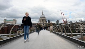 Cathédrale Saint Paul depuis le Millenium Bridge, Londres