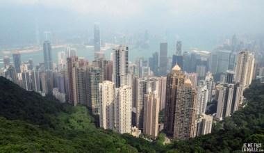 Vue centrale de Victoria Peak Hong Kong