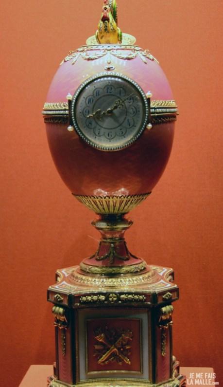 Oeuf de Fabergé avec mécanisme d'horloge