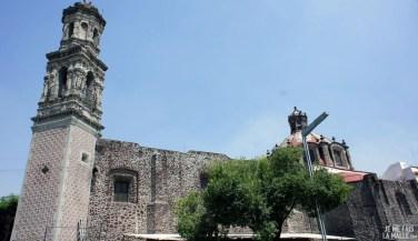 Eglise en pierres de lave, Mexico