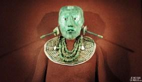 Masque mortuaire du roi Pakal de Palenque au musée anthropologique de Mexico