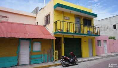 Maison jaune à la Isla Mujeres