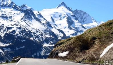 Vue du Grossglockner sur la haute route alpine, Autriche