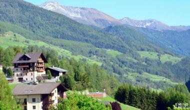 Vue sur la vallée depuis l'hôtel