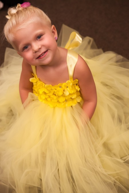 Flower Girl, yellow tutu.