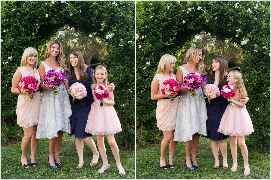 Emily and her bridesmaids, bouquets by Camilla Svensson Burns
