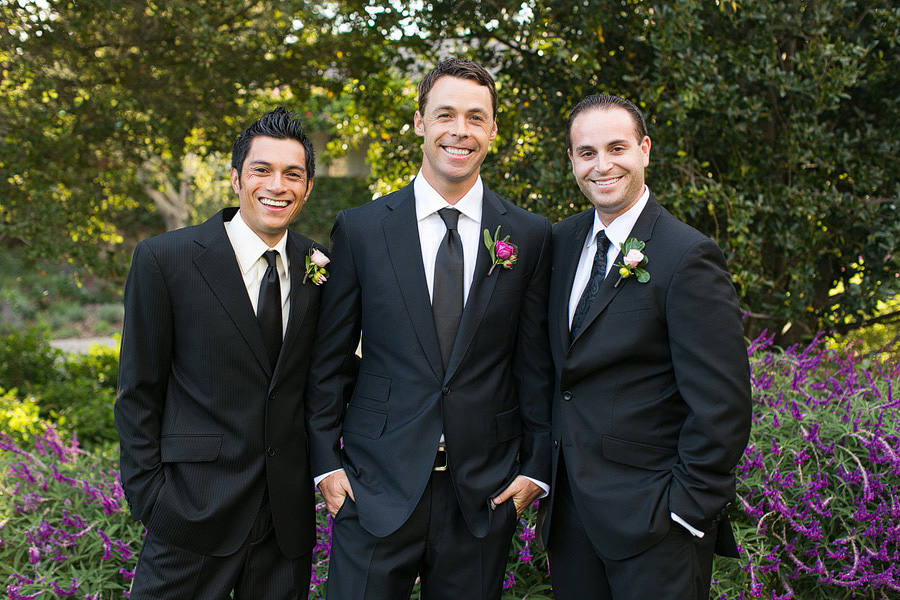Tyson and his handsome groomsmen