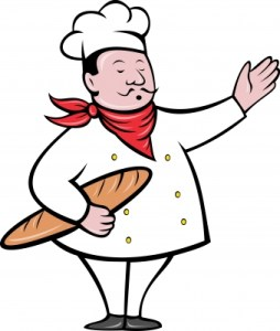 "Image of ""Baker With Bread Loaf"" by vectorolieI courtesy of freedigitalphotos.net"