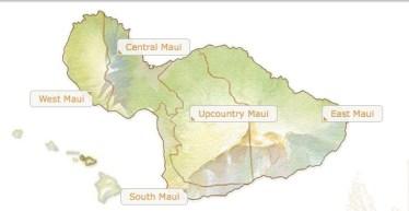 Map of Maui from GoHawaii.com