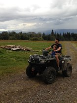 Quadding for the first time for both of them.