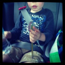 Tent peg and water bottle - best car toys ever.