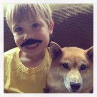 With his buddy Mooki