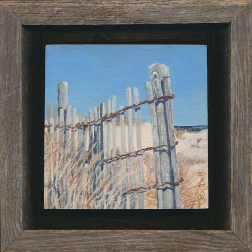 Artist Jen Bell's Cape Henlopen Dune Painting