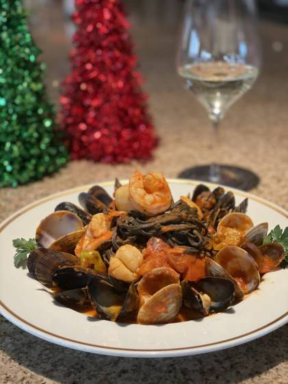 Holiday Menu Black Ink Pasta