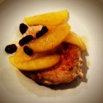 Spiced Rum and Apple Raisin Glazed Pork Chops {Recipe ReDux}