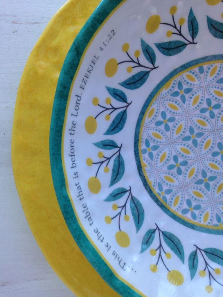 Mary & Martha plate