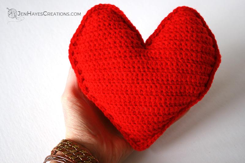 Free Crochet Heart Pillow Pattern Jen Hayes Creations