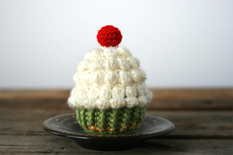 Whip It Up On Top Crochet Cupcake | Jen Hayes Creations