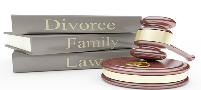 Divorce Books with Gavel