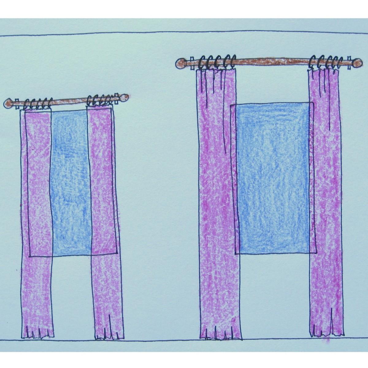 to hang window drapery panels