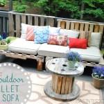 Diy Outdoor Pallet Sofa Jenna Burger Design Llc