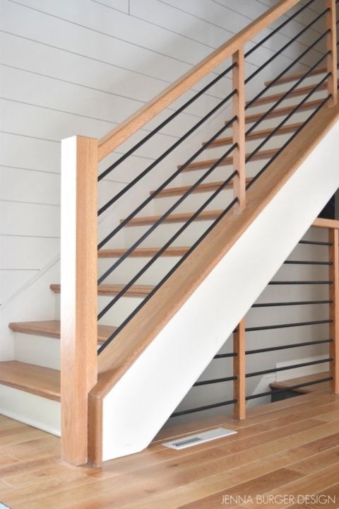 Modern Metal Wood Staircase Jenna Burger Design Llc   Wooden Railing Designs For Stairs   Handrail   Different Kind Wood   Combination Wood   Interior   Indoor