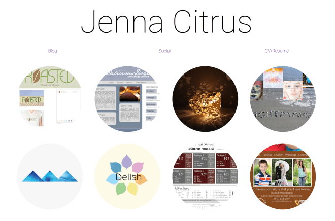 Jenna Citrus Portfolio Website