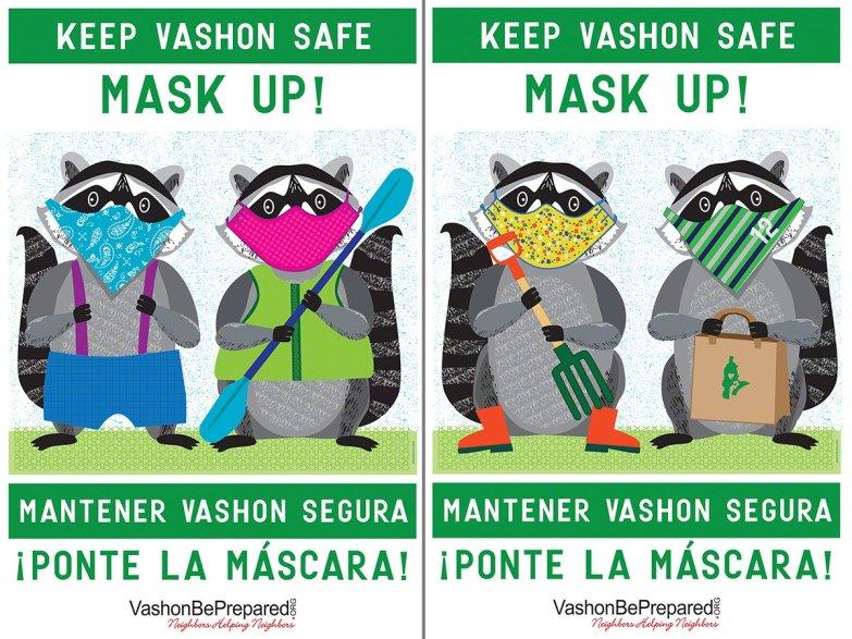 MaskUp Vashon Raccoons