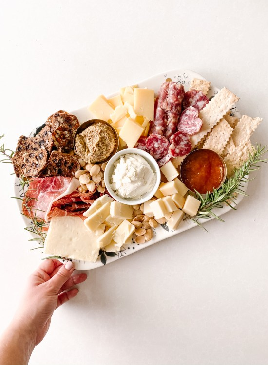 perfect cheese and charcuterie board