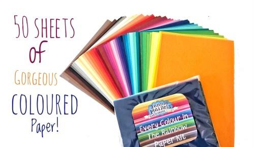 Rainbow Coloured Paper Kit - 1