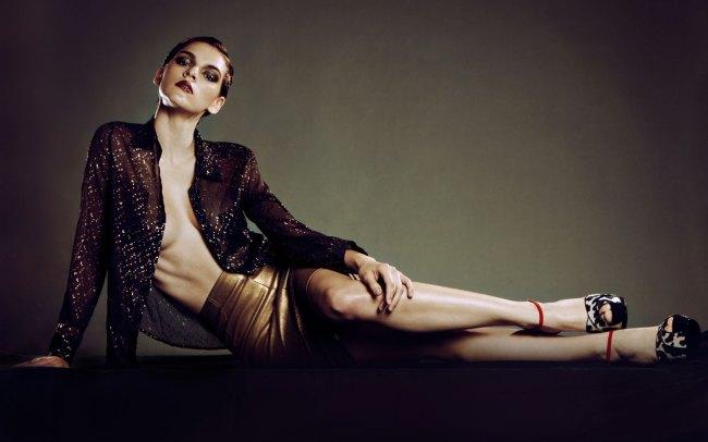 Metallic fashion editorial in Bambi Magazine