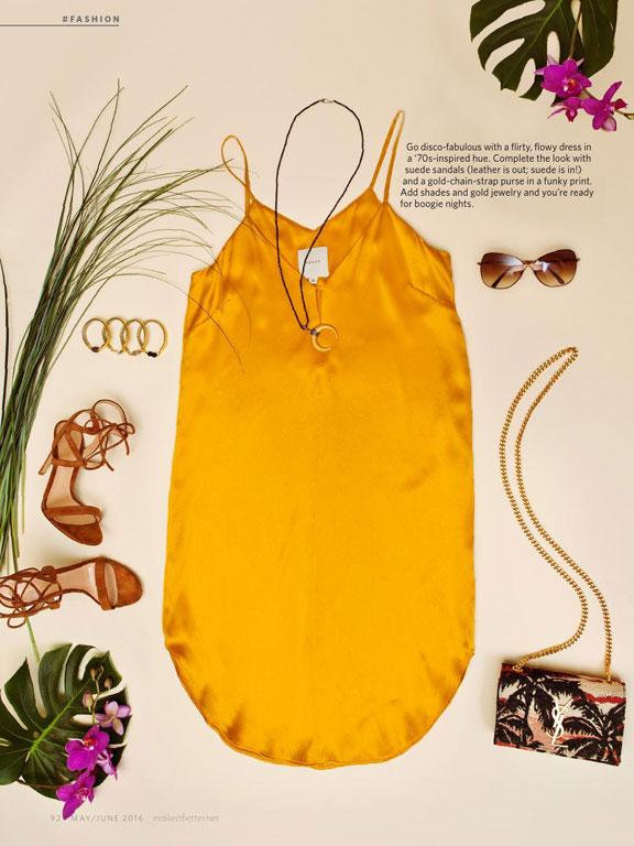 70s inspired fashion flatlay