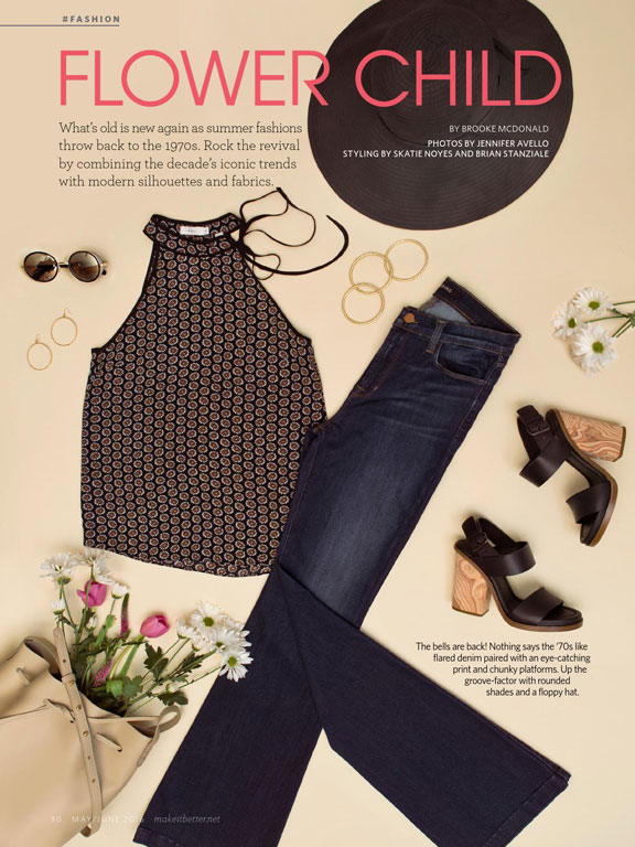 Flower Power Flatlay Editorial Cover Image